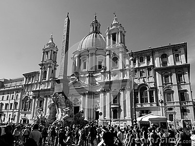 Navona square Editorial Stock Photo