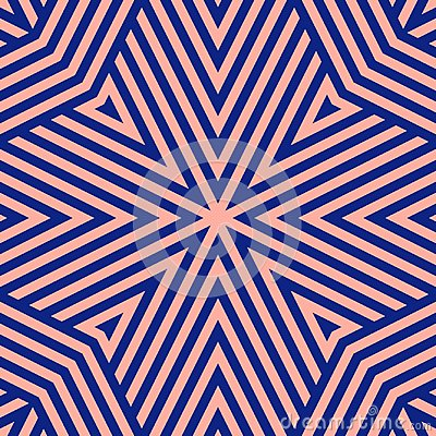 Free Navy Blue And Pink Geometric Lines Seamless Pattern. Creative Repeat Design For Home Decor, Print Royalty Free Stock Photos - 123772998