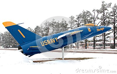 Navy Blue Angel Jet Editorial Stock Photo
