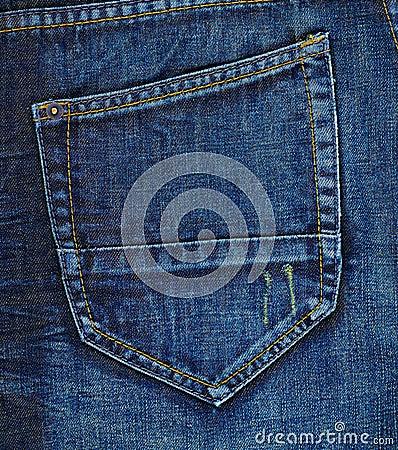 Jeans Back Pocket Texture Navy Blue Jeans Back P...