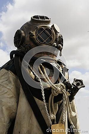 Navy diving helmet
