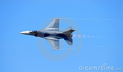 Navy F-14 reaching supersonic speed