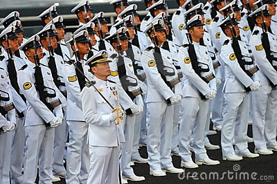 Navy guard-of-honor contingent Editorial Stock Image