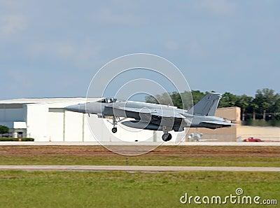 Navy jet taking off