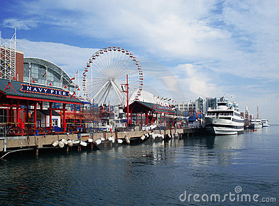 Navy Pier Chicago Royalty Free Stock Images - Image: 13268539
