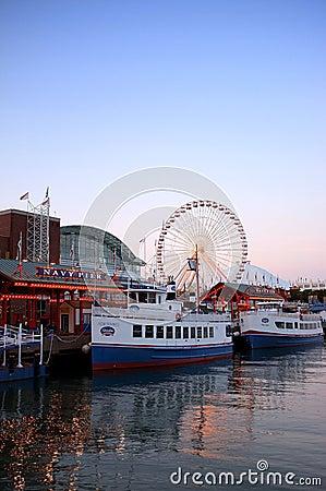 Navy pier Chicago Editorial Stock Photo