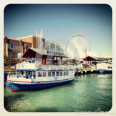 Navy pier Chicago Editorial Image