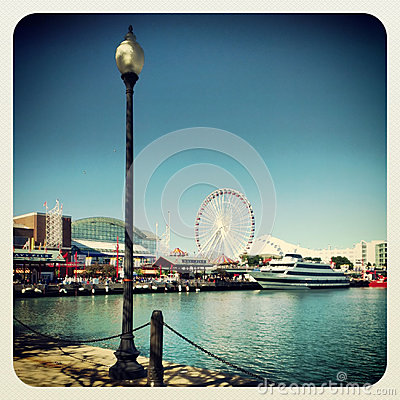 Navy pier Chicago Editorial Stock Image