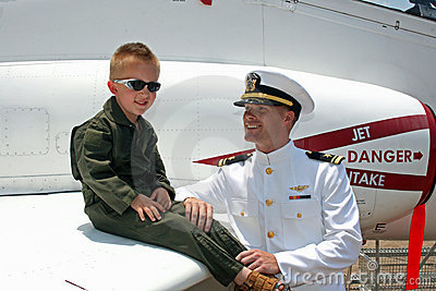 Navy pilots, young and old