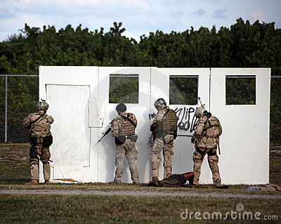Navy SEAL - Assault Demo at UDT-SEAL Museum Editorial Photo