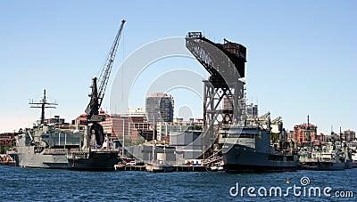 Navy Ships Docked