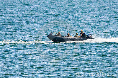 Navy speed boat attack Editorial Photography