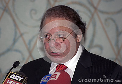 Nawaz Sharif the current Prime Minister of Pakistan Editorial Photography