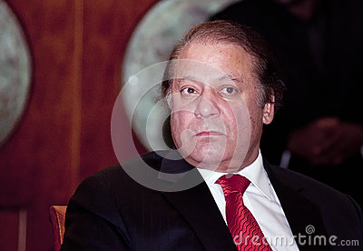 Nawaz Sharif the current Prime Minister of Pakistan Editorial Image