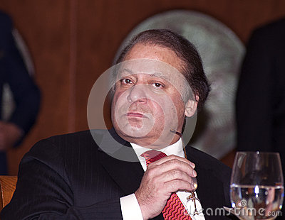 Nawaz Sharif the current Prime Minister of Pakistan Editorial Stock Image
