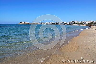 Naxos island beach view