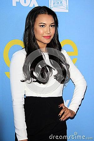 Naya Rivera arrives at the Glee TV Academy Screening and Panel Editorial Stock Image