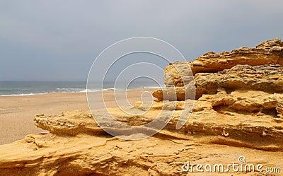 Nazare rocks, Portugal