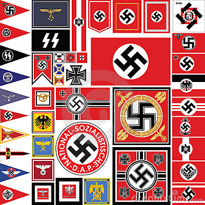 nazi flag set stock vector image of dictator flag national 8643962. Black Bedroom Furniture Sets. Home Design Ideas