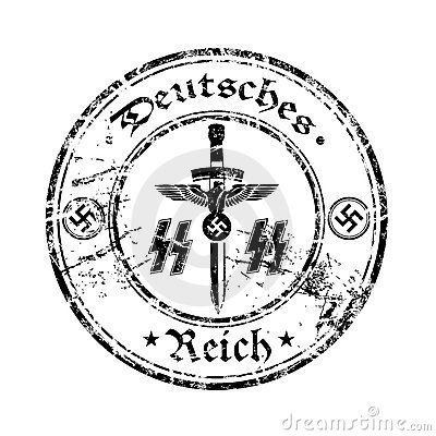 nazi rubber stamp stock vector image  hitler arms