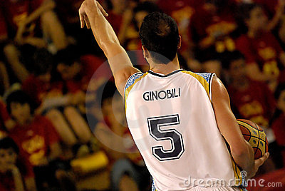 NBA Ginobili Editorial Photo