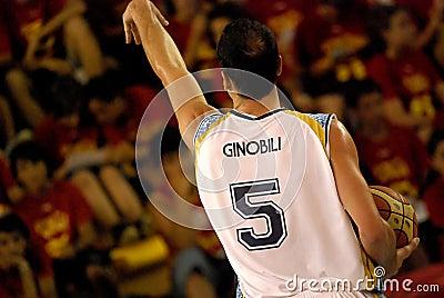 NBA Ginobili Editorial Photo