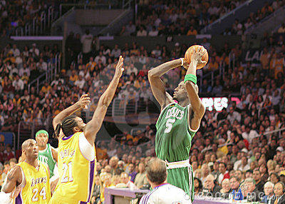 NBA Lakers Celtics Finals Editorial Image