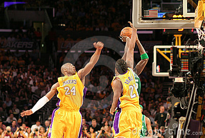 NBA Lakers Celtics Finals Editorial Photography