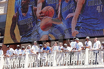 NBA  Mavericks champions parade Editorial Photo