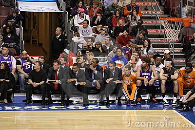 NBA Phoenix Suns bench Editorial Photo
