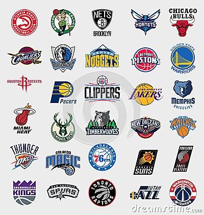 Free NBA Teams Logos Royalty Free Stock Photo - 78105095