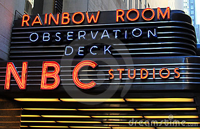 NBC Studio Neon Sign Editorial Stock Image
