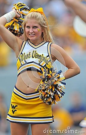NCAA 2012 - WVU cheerleader Editorial Photography