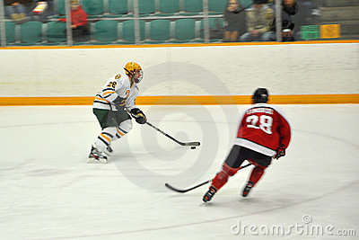 NCAA Ice Hockey Game in Clarkson University Editorial Stock Image