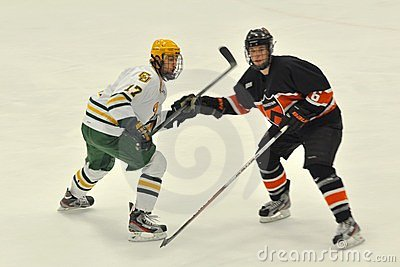 NCAA Ice Hockey Game in Clarkson University Editorial Photo
