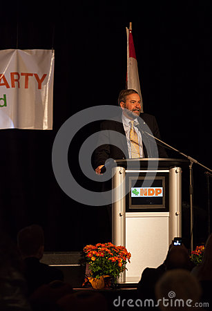 NDP Federal Opposition Leader Thomas Mulcair Editorial Image