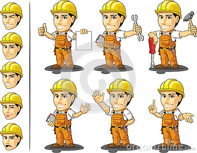 Ndustrial Construction Worker Mascot 2