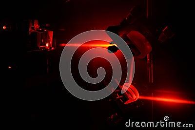 He-Ne laser beam