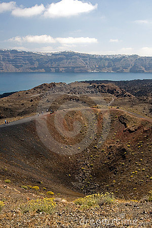 Free Nea Kameni Volcano Santorini Stock Photo - 4350950