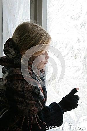 Near the icy window