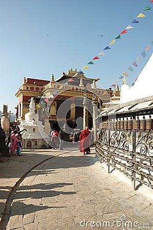 Near Swayambhunath stupa,Kathmandu,Nepal Editorial Stock Image