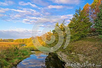 Nebenfluss, landwirtschaftliches Illinois