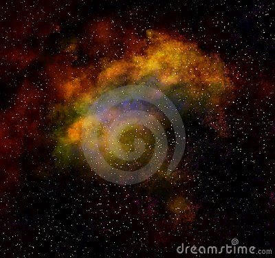 Nebula cloud in outer space