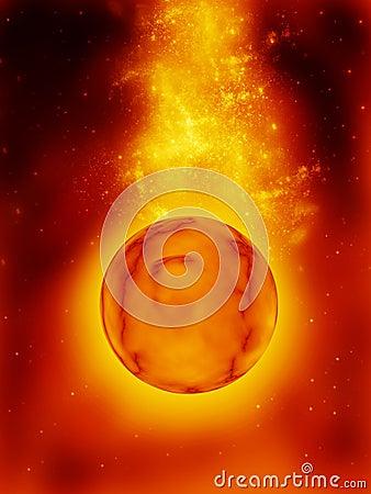 Nebula and Planet