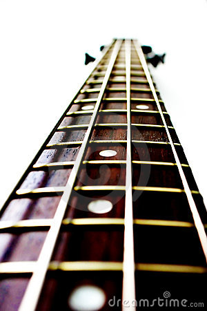 Neck of a bass guitar