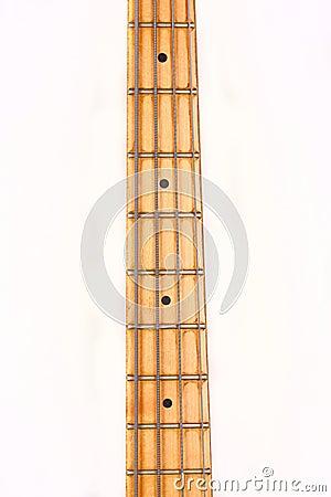Neck of bass guitar