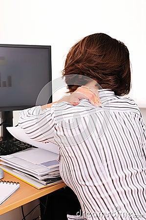 Free Neck Pain At Work Stock Photo - 6860670