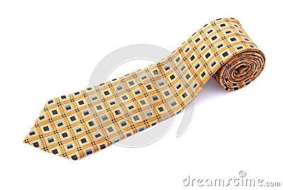 Neck tie rolled