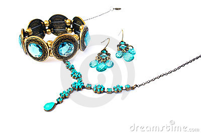 Necklace,bracelet and earrings