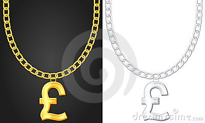 Necklace with pound symbol